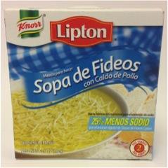 Sopas de Fideos Less salt